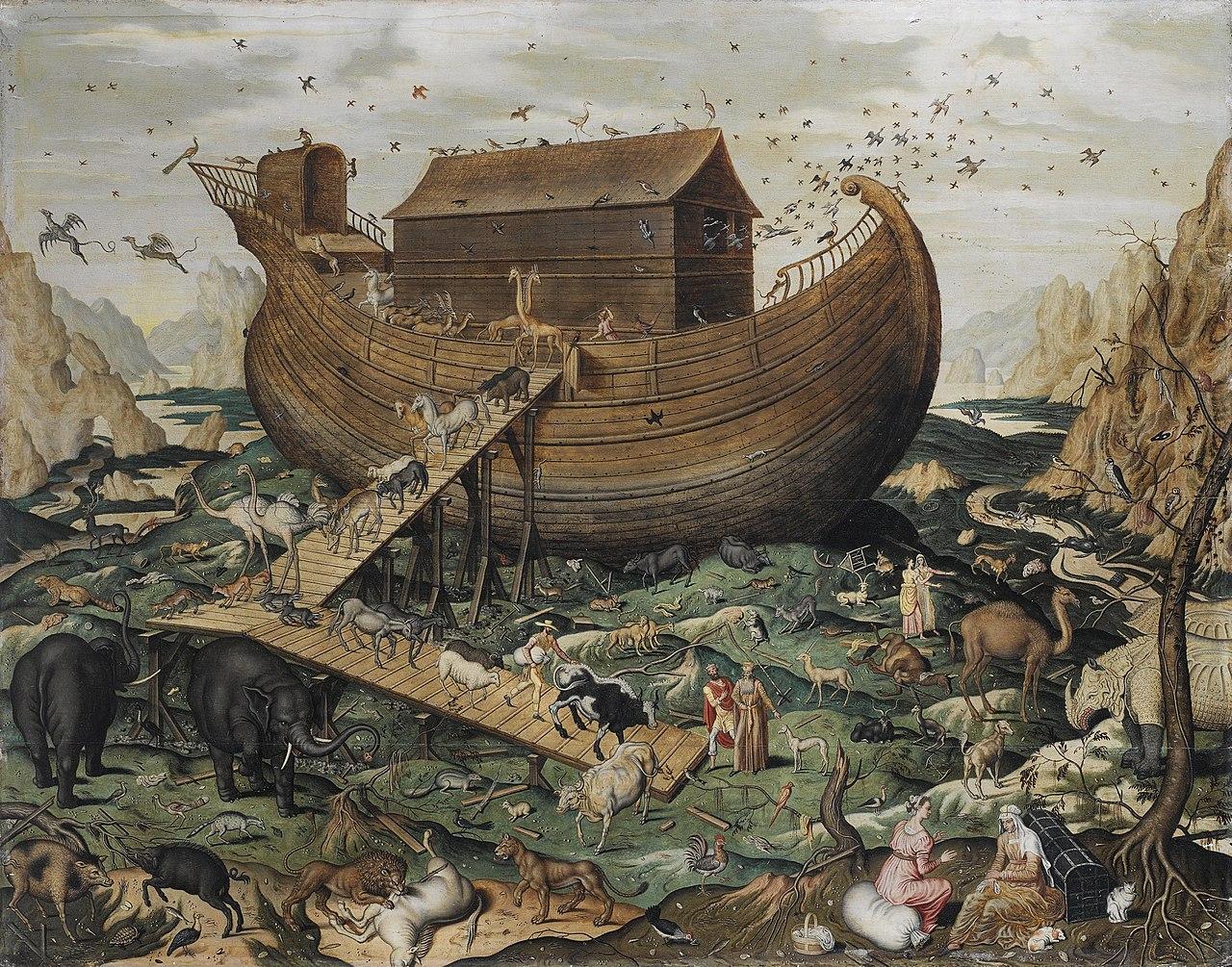 Arche Noé Mont Ararat animaux bateau montagnes Simon de Myle