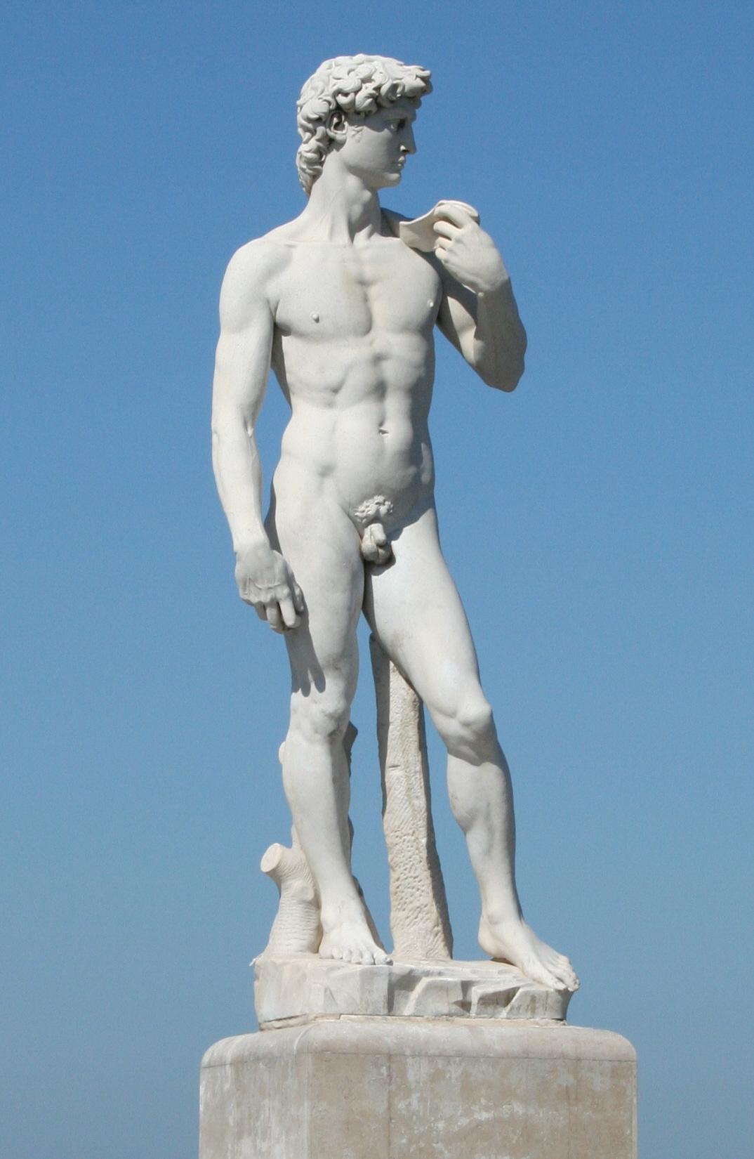 Statue David marbre David Michel-Ange Jules Cantini