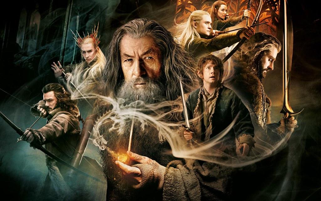 affiche film américain The Hobbit oeuvre Tolkien Gandalf