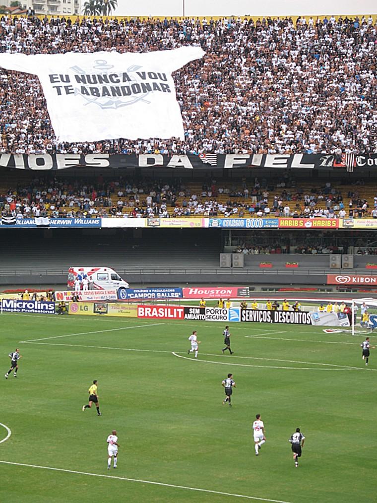Equipe football championne Brésil Corinthians Sao Paulo supporters