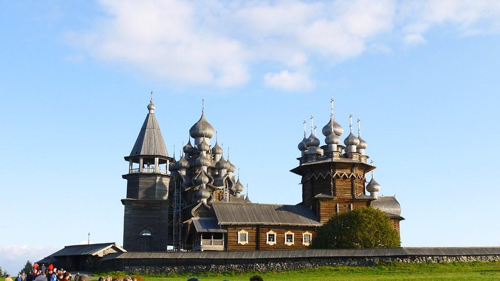 Eglise orthodoxe Kiji île lac Onega nord Russie