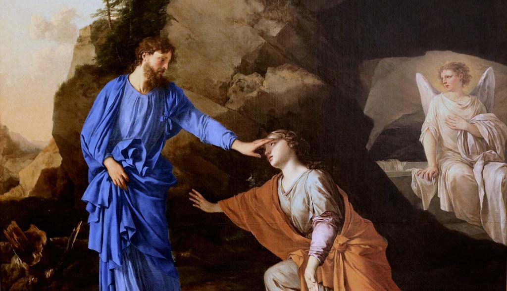 Apparition Christ Marie-Madeleine ange Laurent de La Hyre