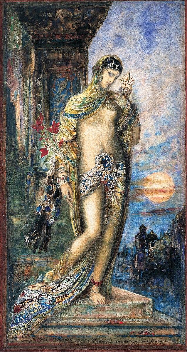 Shulamite Salomé cantique des cantiques femmes habits couleurs fleurs beauté Gustave Moreau
