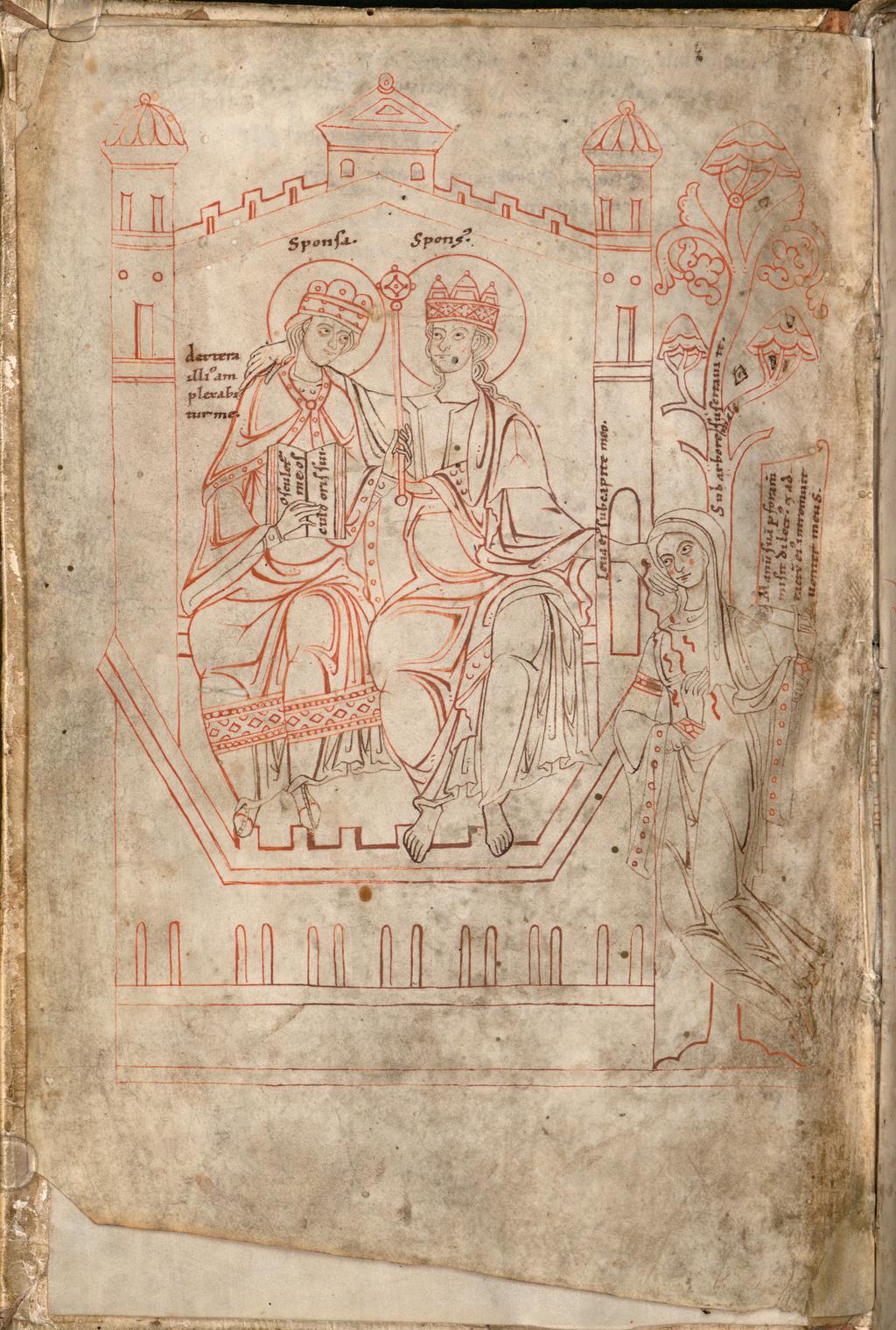 amoureux dessin château couronnes arbre vie Honorius Augustodunensis