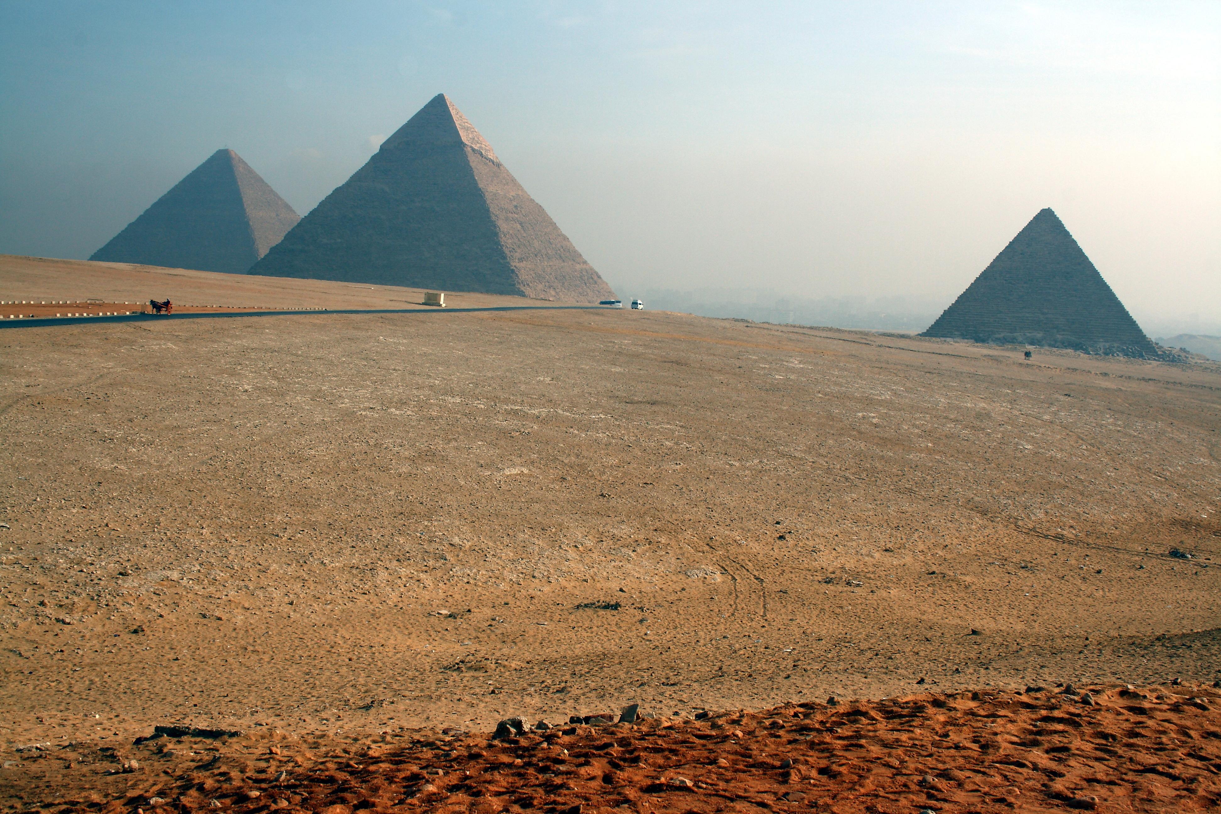 Pyramides de Kheops Khephren Mykérinos Egypte Pyramides de Gizeh