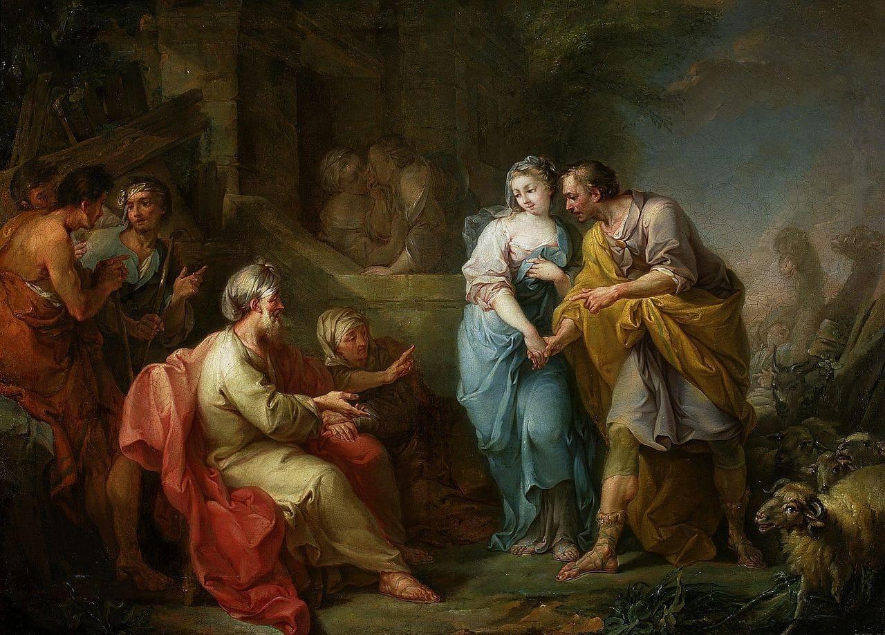 rachel jacob couple epoux bible foule Amigoni