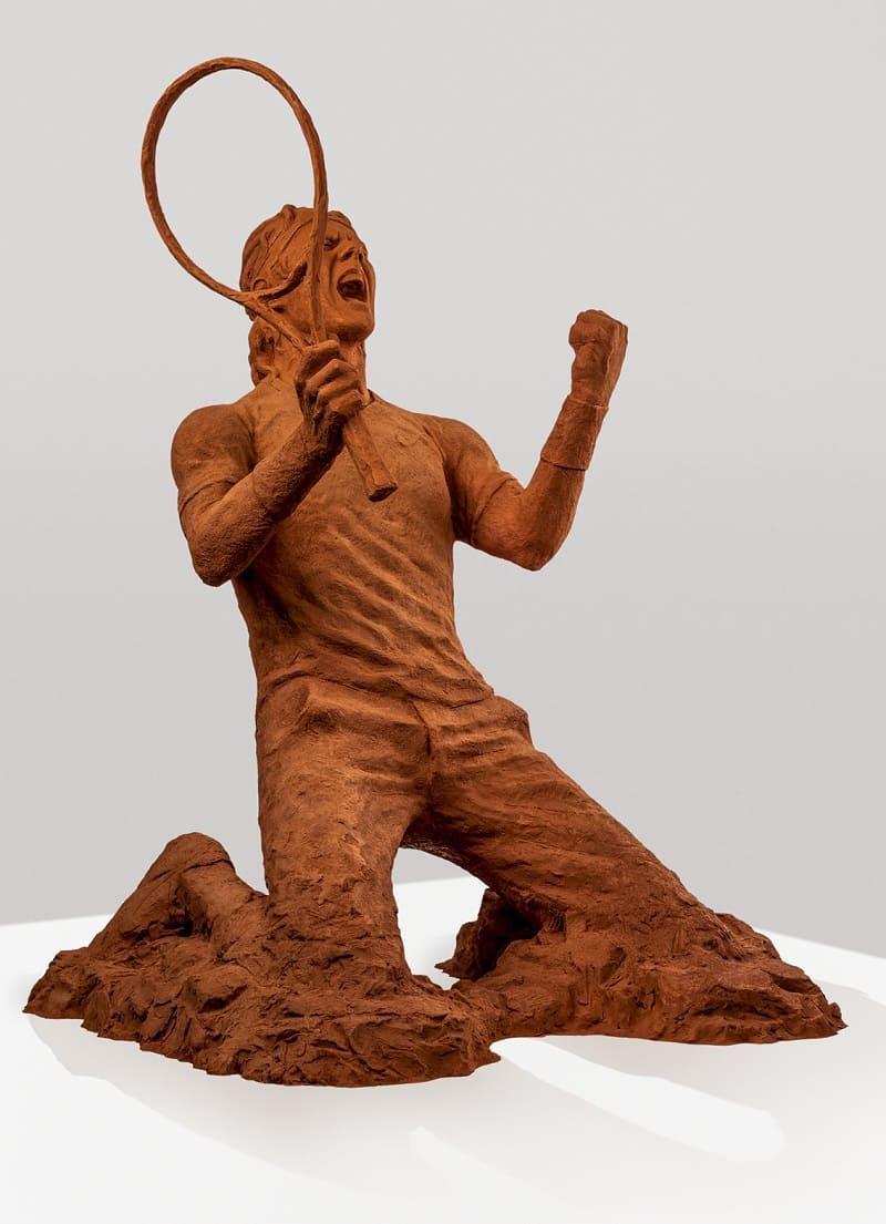 statue nadal terre battue couleur victoire tennis raquette
