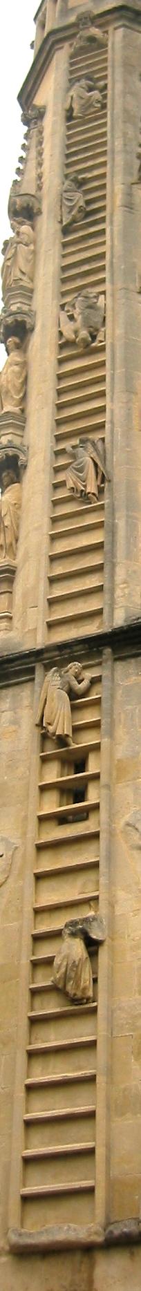 facade ouest abbaye bath ange monte escalier