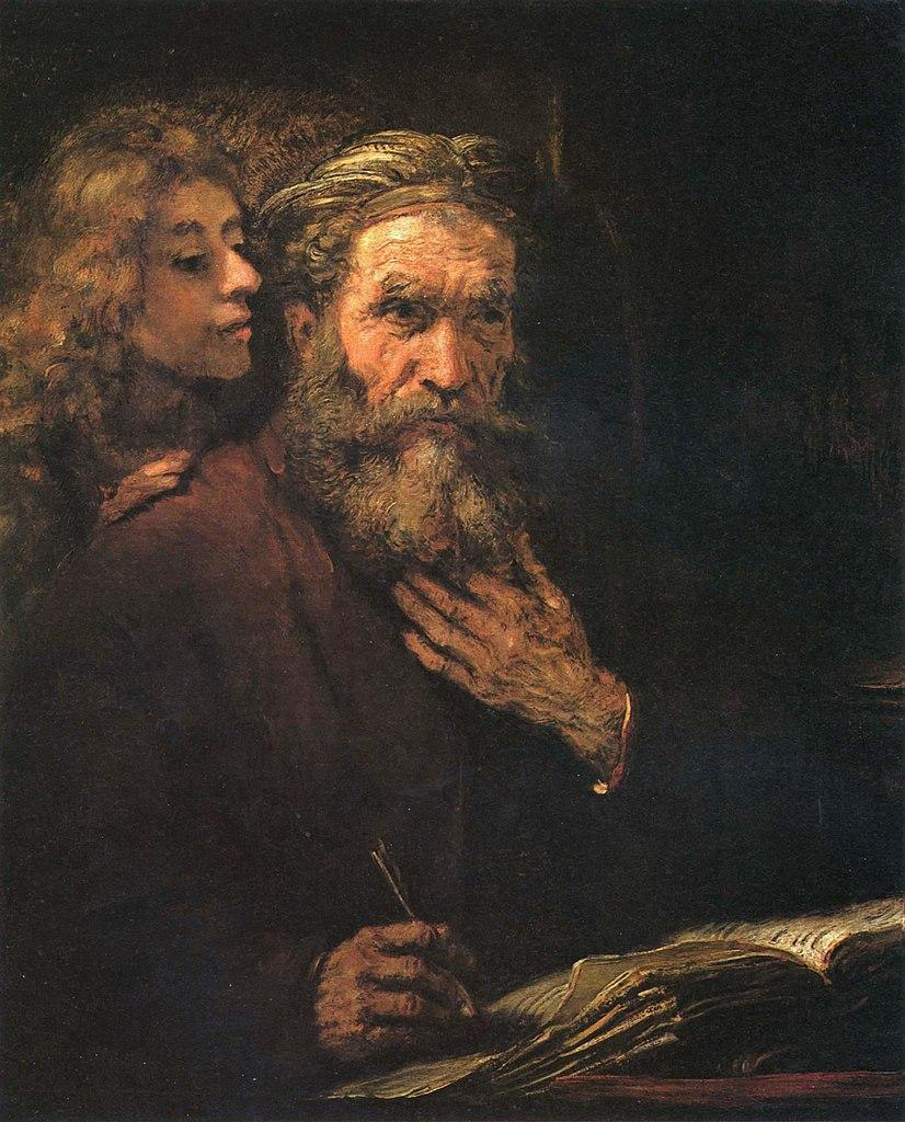 Hommes chevelure habits sombres papier écriture Rembrandt