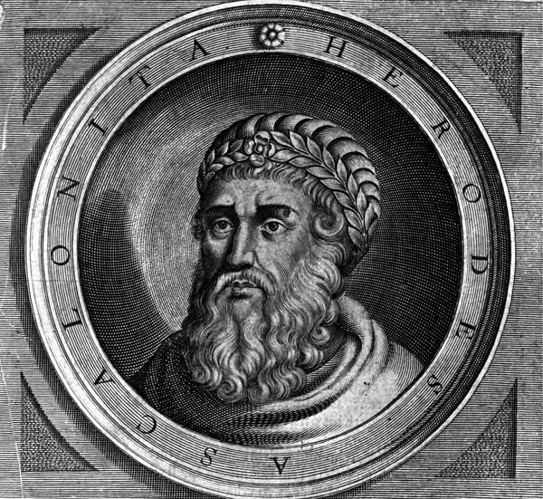herode portrait visage barbe couronne regard artiste inconnu