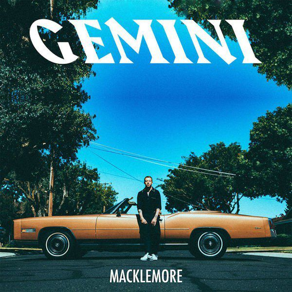 macklemore church gemini album pochette voiture artiste assis