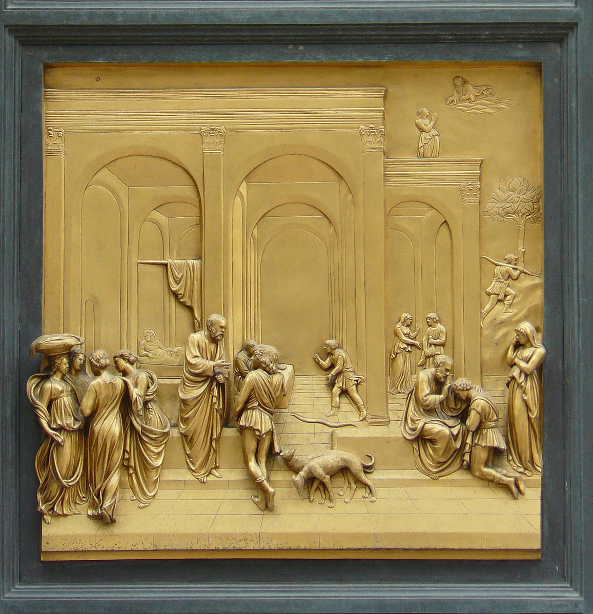 jacob esau attente chien scene de vie marché Ghiberti