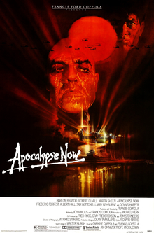 apocalypse now film affice rouge visage coppola