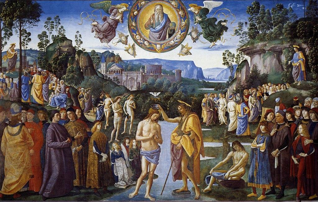 jourdain bapteme foule dieu jésus baptiste le perugin