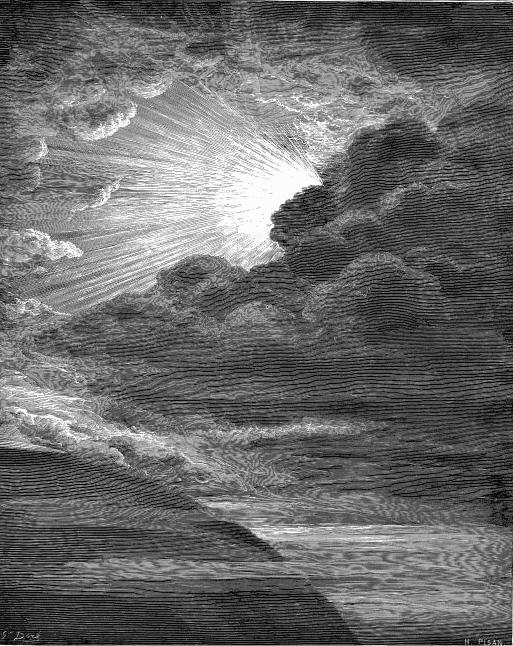 lumiere noir blanc nuage sombre gustave doré