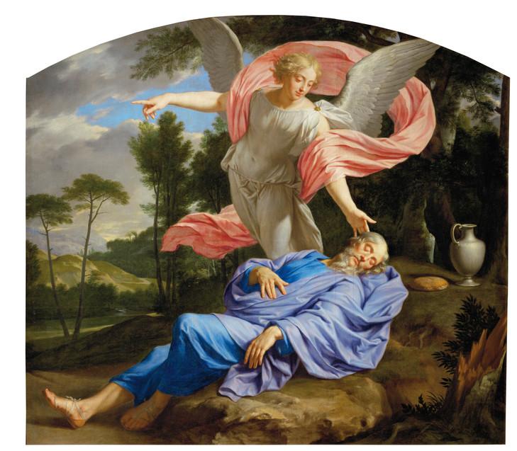 sommeil Elie ange eau pain philippe de Champaigne musée de Tessé