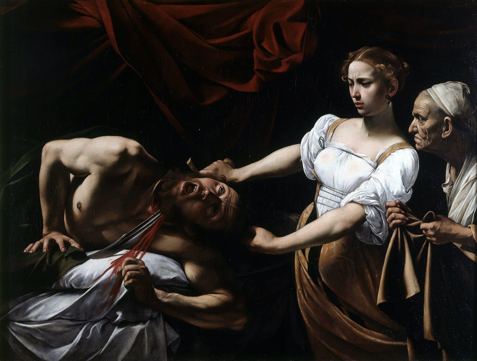 assassinat judith chemiser blanc drapé servante