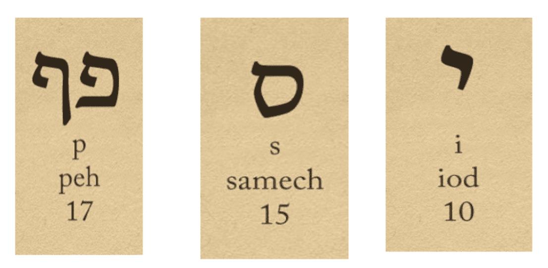 lettres hébreu noir