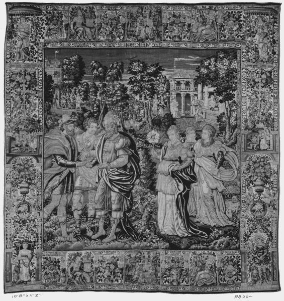 tapisserie drapé 6 personnes verdure