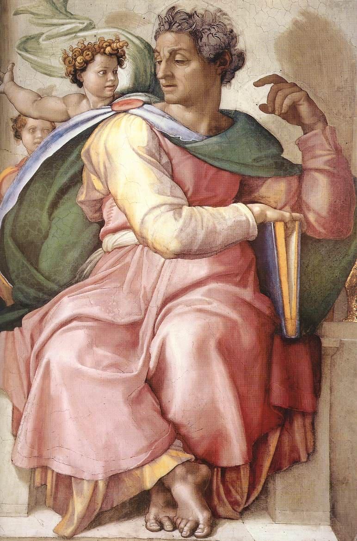 Isaïe homme robe rose ange bouclé