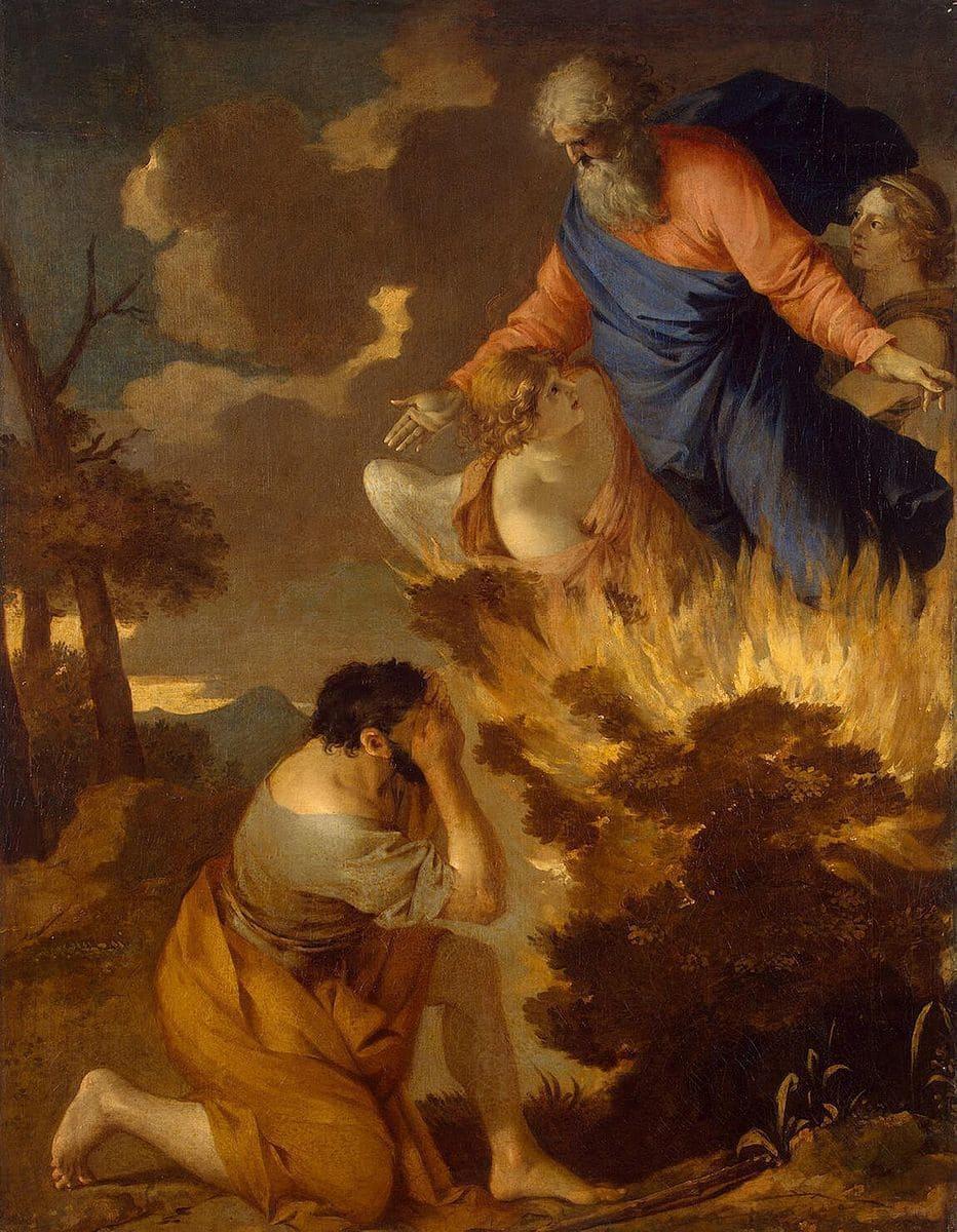 homme éblouis flamme ange Dieu ciel arbre