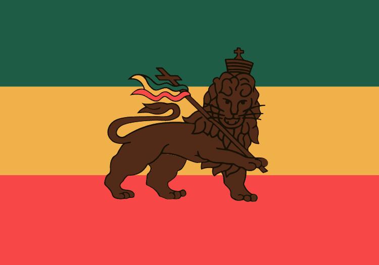 drapeau vert jaune rouge lion