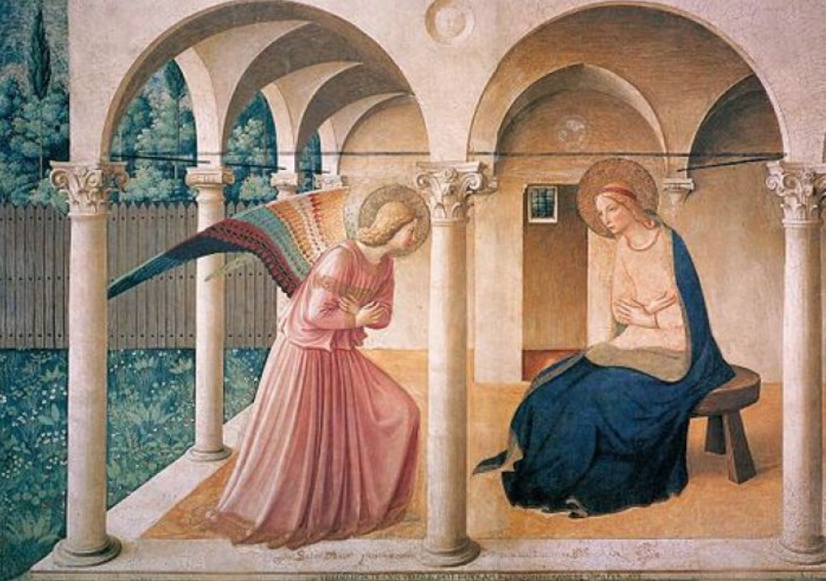 ange gabriel marie annonciation poteaux fra angelico