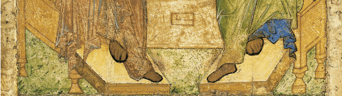 Trinité Ancien Testament pieds anges Andreï Roublev