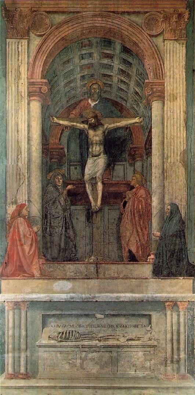 fresque sainte trinité rouge blanc bleu Masaccio
