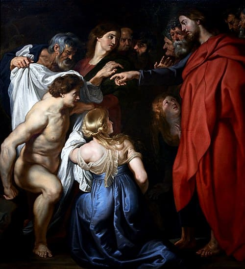 Lazare sortant tombeau Christ ressuscite doigt Peter Paul Rubens