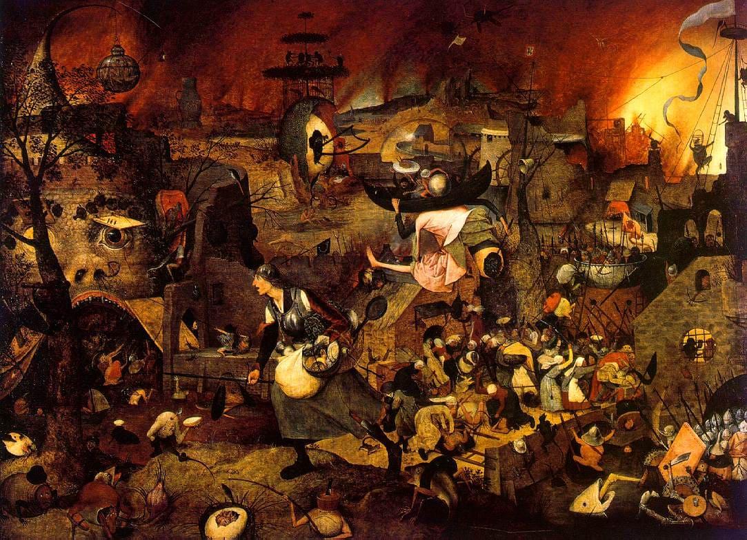 enfer monstre sombre mort sang feux Pieter Brueghel l'Ancien