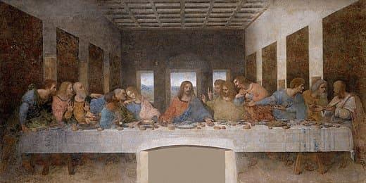 la cène douze repas jésus centre