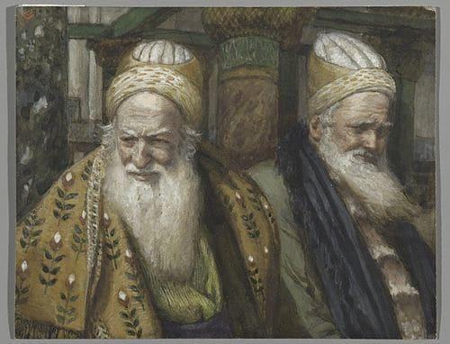 Anne Caïphe grands prêtres hommes barbes manteaux chapeauxJames Tissot