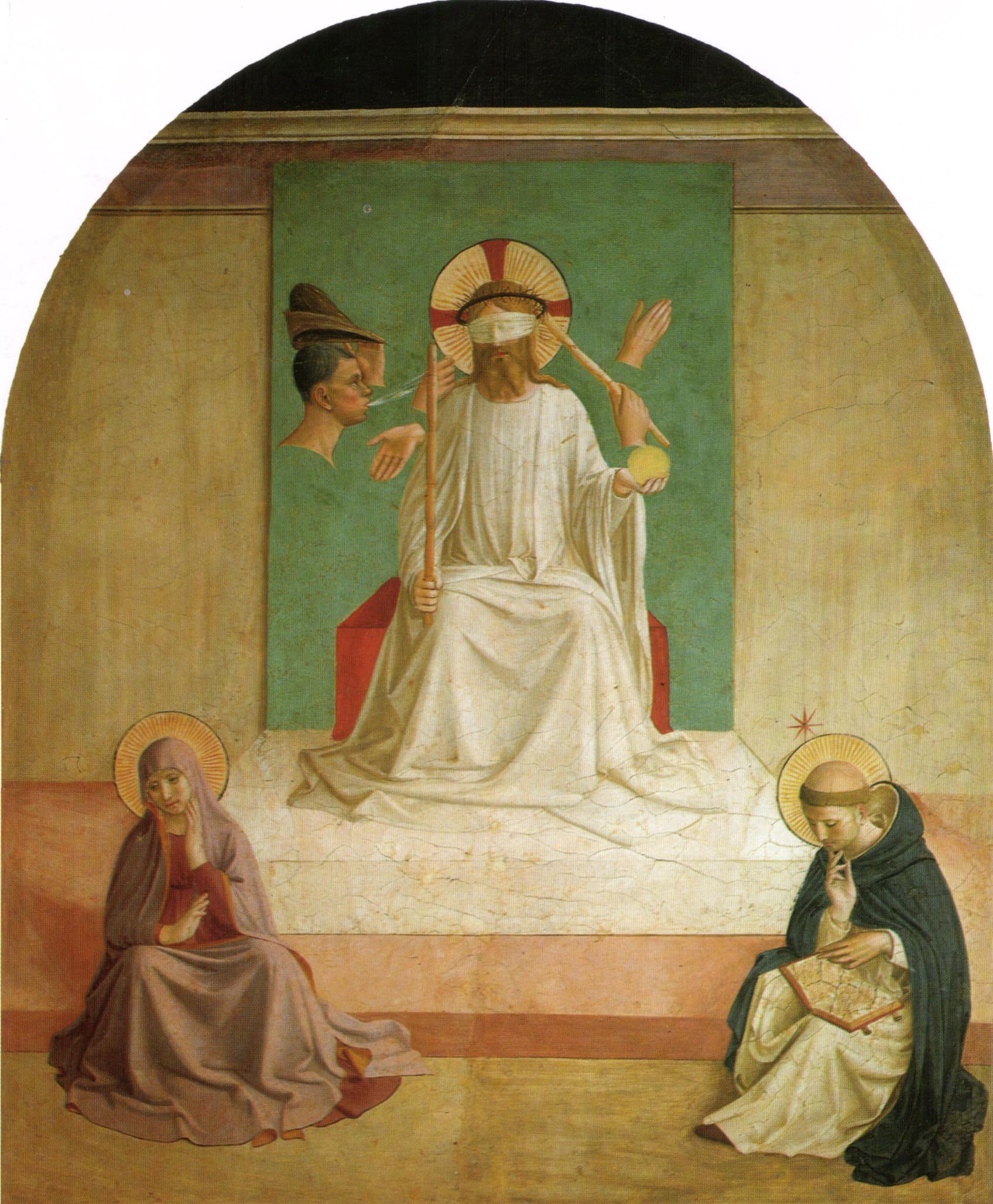 Christ outrages bandeau Vierge saint Dominique Fra Angelico
