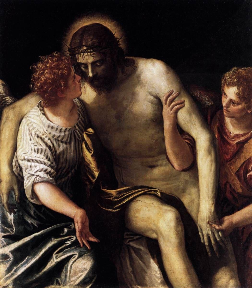 Christ mort soutien anges blessures souffrance Véronèse