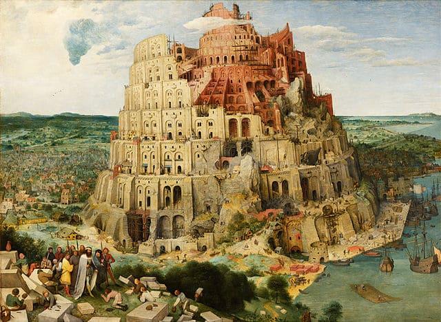 Tour de Babel massif imposante unique hauteur Pieter Bruegel l'Ancien