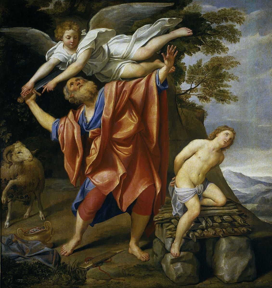 Abraham sacrifice Isaac épée ange retenir bras Le Dominiquin