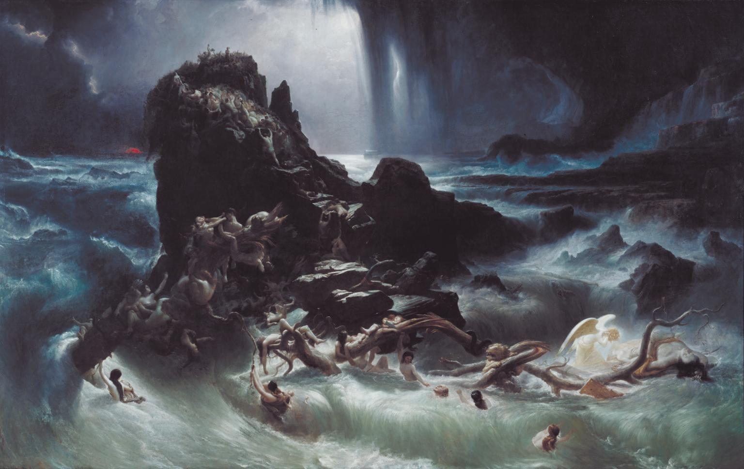 Déluge mer rocher morts noyade tempête Danby