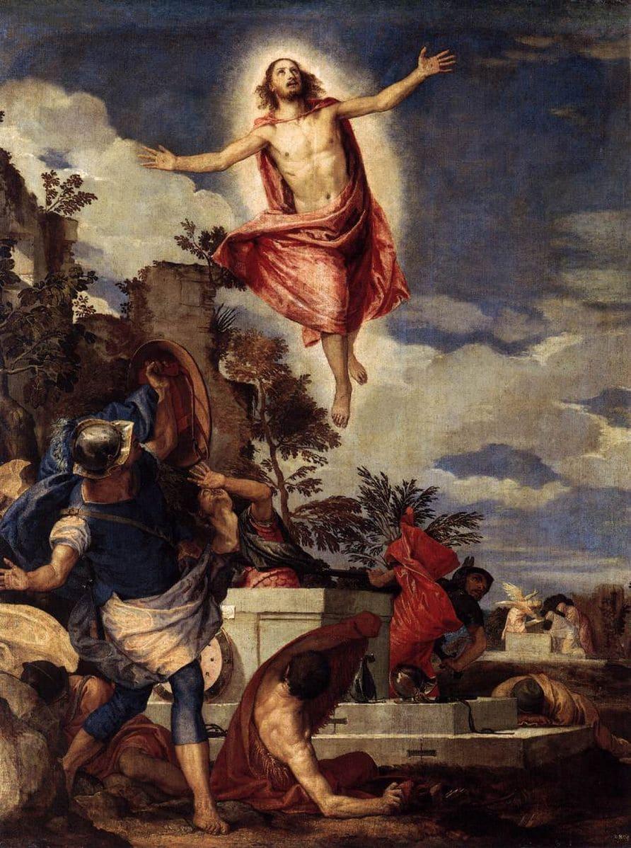 Résurrection Christ montée ciel soldats Véronèse