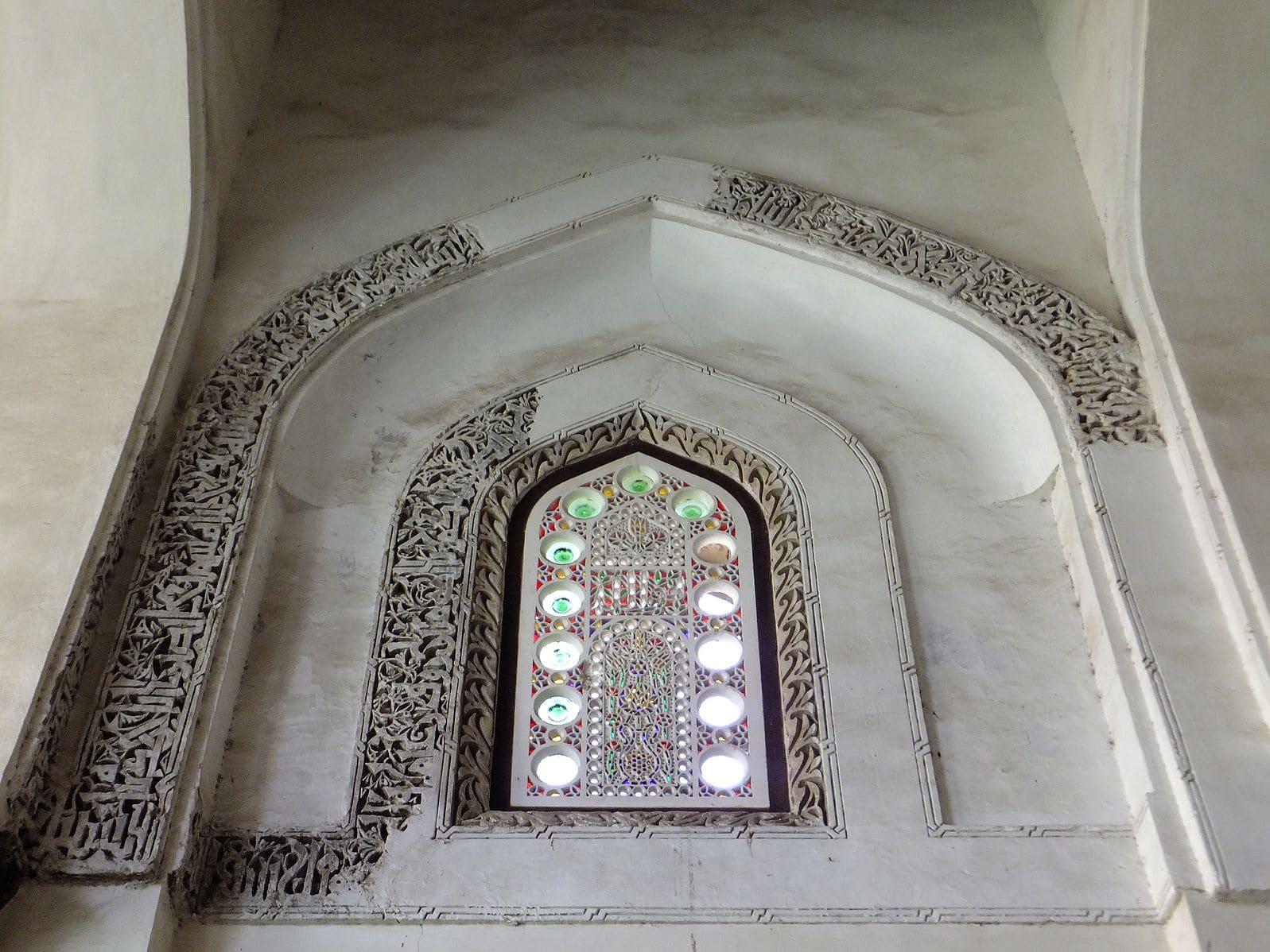 Fenêtre sculpture mosquée Caire Egypte