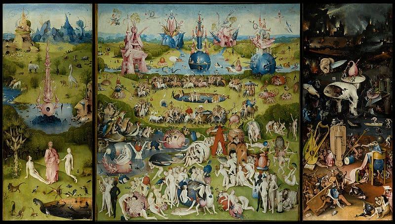 Le jardin des délices création monde Adam Eve Paradis Enfer Jérôme Bosch