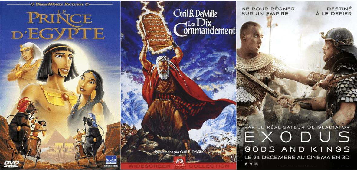 Affiche film Exodus Le Prince d'Egypte dix commandements