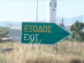 panneau autoroute sortie exit exodos grec