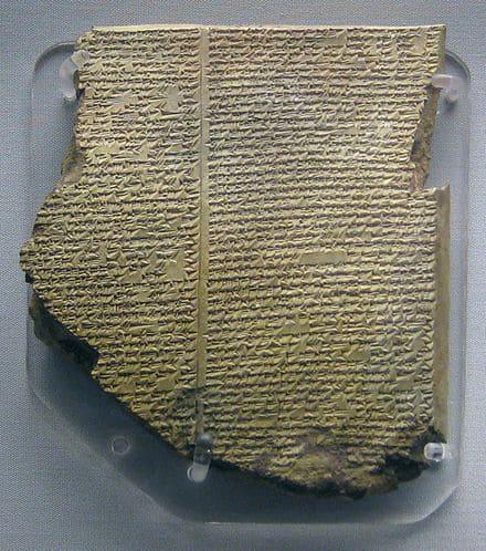 tablette récit Déluge transmission