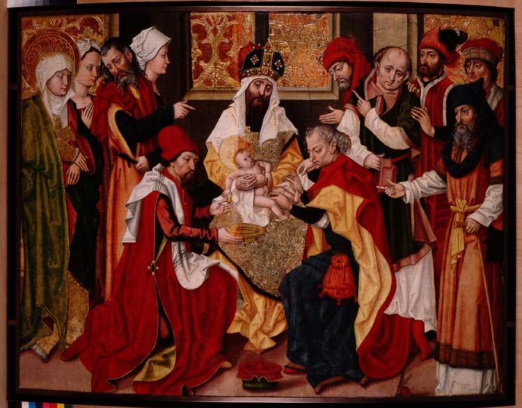 circoncision jésus rouge foule Maître à l'oeillet de Baden