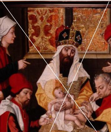 prêtre couronne drapé bébé circoncision
