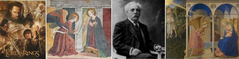 L'Annonciation : Marie et l'ange Gabriel