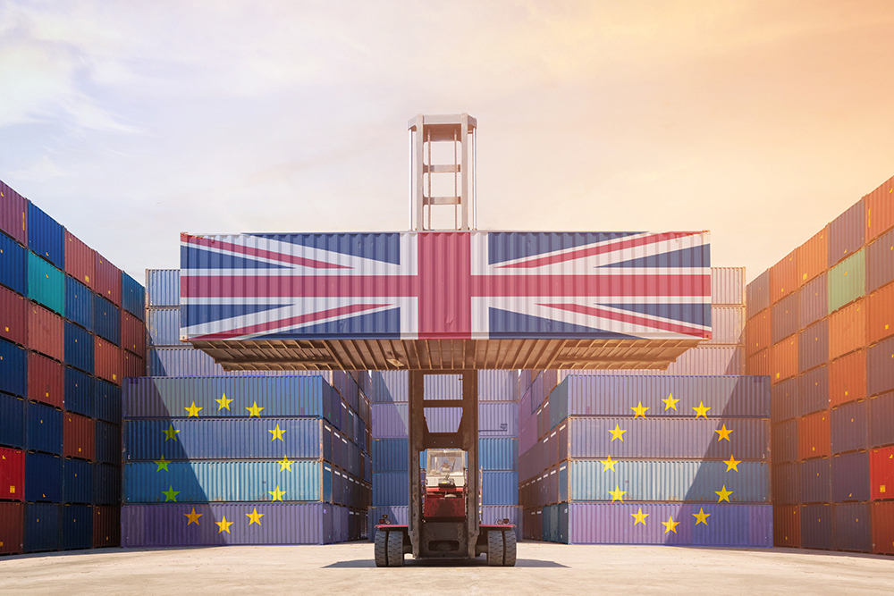 UK Leaving EU Container