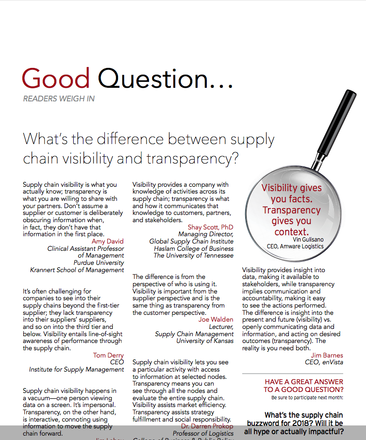 what is supply chain transparency