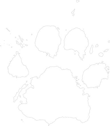 White paw print